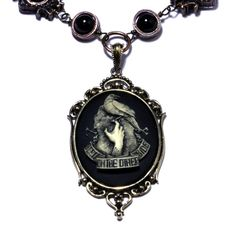 Steampunk Goth Jewelry  Necklace  Ivory on by CatherinetteRings, $55.00