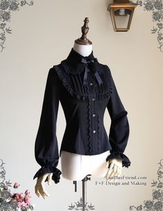 fanplusfriend - Scented Corsage, Classic Lolita Lacing Up Back Long Sleeves Blouse*3colors Instant Shipping, $49.44 (http://www.fanplusfriend.com/scented-corsage-classic-lolita-lacing-up-back-long-sleeves-blouse-3colors-instant-shipping/)