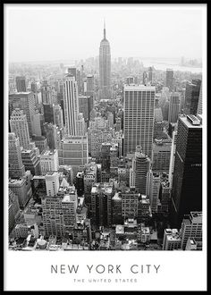 Black and white New York poster. Schwarz-weißes New York-Poster. Black and white New York poster. New York Poster, City Poster, World Map Poster, Map Posters, Kunst Posters, Black And White Posters, Black And White Aesthetic, New York Black And White, Ciudad New York