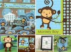 monkey baby shower ideas for boys | delightful monkey to life with mocha eey the little plush monkey ...