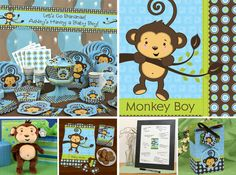 Monkeys are cute, playful and sometimes mischievous little critters so hosting a birthday party or baby shower in BigDotOfHappiness.com's Monkey Boy theme seems only fitting when there is a little boy at the center of the event. The fun monkey character is sure to capture the hearts of all your
