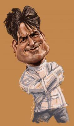 Charlie Sheen de caricature