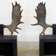 Rick Owens #Moose #Chairs for Sebastian+Barquet Gallery in London trendhunter.com