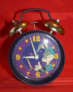 Bugs Bunny Wind-up Alarm Clock Warner Brothers Studio Store Westclox 1994 VGC
