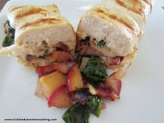 BACON, ONION, APPLES, ROSEMARY, SPINACH Stuffed Chicken Breast