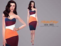 """tangerinesimblr:  """"  Lucia - Dress  """"Halloween/Name Tribute  """"Lucia"""" is the name of a bride who - according to legend - she lived in Naples. Her skull is in Fontanelle Cemetery, a mystical and dark..."""