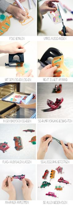 Shrink plastic works like magic and lets you create beautiful key fobs in no time – like these car fobs! This tutorial shows you how it's done.
