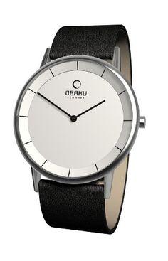 Obaku Harmony Herren-Armbanduhr XL Analog Quarz Leder 28-V143GCIRB: Amazon.de: Uhren