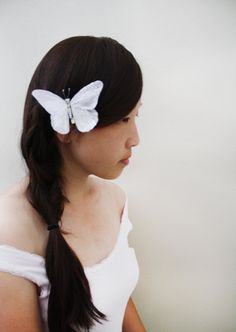 Butterfly hair clip by Nostalgia.