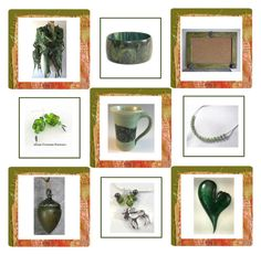 """""""Green gifts"""" by keepsakedesignbycmm ❤ liked on Polyvore featuring jewelry, accessories and decor"""