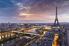 Eiffelturm bei Sonnenuntergang Paris City Skyline Tapete Reise-Foto-Tapete in 8 Größen erhältlich Extraklein digital