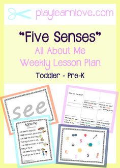 All about me my name is lesson plan from play learn love five senses lesson plan all about me themed crafts and activities for preschoolers and toddlers fandeluxe Images