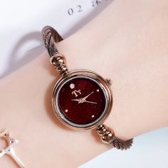 Watch name: Exquisite Creative Bracelet Women's WatchWatch case: Alloy caseWatch strap: Copper strapWatch movement: Japanese movementWaterproof: For daily waterproof use onlyProduct size: Dial diameter: Thickness: Vintage Watches Women, Stylish Watches, Professional Women, Bracelet Watch, Confidence, Bracelets, Creative, Accessories, Jewelry