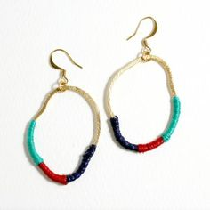 DIY Embroidery Floss Earrings