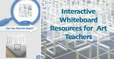 Interactive Whiteboard Resources for Art Teachers. Now I just need to get an interactive whiteboard. Interactive Whiteboard, Interactive Art, High School Art, Middle School Art, Art And Technology, Educational Technology, Technology Integration, Smart Board Lessons, 3d Studio