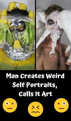 Man Creates Weird Self Portraits, Calls It Art - Viral Content Feed Funny Pranks, Funny Fails, Hard Rock, Funny Images, Funny Pictures, Hip Hop, Funny Picture Jokes, Blues, Embarrassing Moments