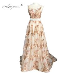 Leeymon Real sample Luxury Prom Gown Sequin Lace Party Dress for Birthday Arabic Prom Dress RE2152