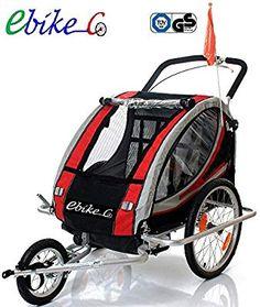 Remolque bicicleta aluminio, ebikeco 7 confort suspensión, rueda 360º ROJO Sidecar, Baby Strollers, Children, Kit, Cargo Trailers, Wheels, Modern Bedrooms, Tent, Baby Prams