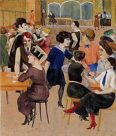 """Damenkneipe ( Ladies Dive)"""" - Rudolf Schlichter - 1923"""