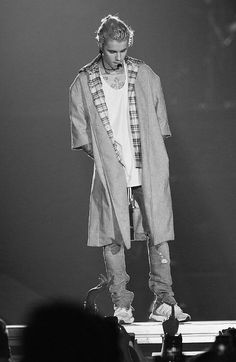 Justin Bieber wearing Fear of God The Overcoat, Fear of God Collection Selvedge Denim Vintage Indigo Jean, Fear of God Collection Tank Top, Adidas Ultra Boost Shoes Justin Bieber Photos, Justin Bieber ファッション, Justin Bieber Lockscreen, Justin Bieber Wallpaper, Justin Bieber Fashion, Bae, My Big Love, My Idol, Street Wear