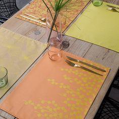 Set de table enduit A la carte Pois de senteur 48x36 100% coton - Nouveautés - Le Jacquard Français