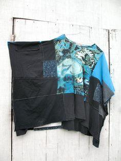 romantic upcycled PatchWork Funky Eco / Shrug / Wrap by CreoleSha, $82.99