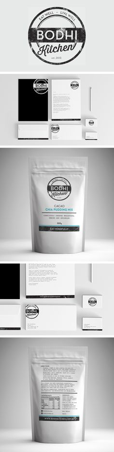 Bodhi Kitchen branding and packaging by Smack Bang Designs #Packaging #Branding #Stationary #SmackBangDesigns