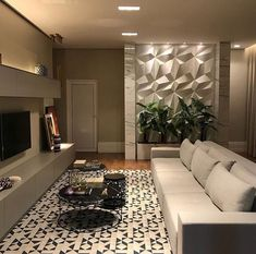 Tv Wand, Living Room Interior, Home Living Room, Living Room Designs, Living