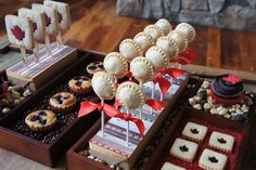 Autumn/Canada Day dessert table