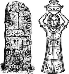 The swastika, the Phoenician sun symbol, on the Phoenician Craig-Narget stone in Scotland, and on the robe of a Phoenician high priestess. (Source)  How and why did so many diverse countries and cultures, across many eras, use the same symbol and apparently with the same meaning?    - See more at: http://www.ancient-origins.net/myths-legends/symbol-swastika-and-its-12000-year-old-history-001312#sthash.rvecZA72.dpuf