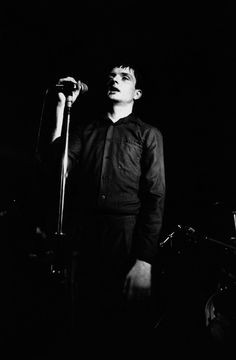 Ian Curtis at The Factory Club by Kevin Cummins, Manchester, 1979