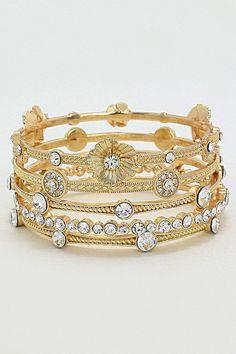 Crystal Abella Bracelet in Gold
