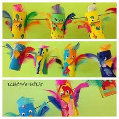 papír madár papagáj I had the theme of birds in kindergarten and it is . Projects For Kids, Diy For Kids, Crafts For Kids, Preschool Crafts, Easter Crafts, Toilet Paper Roll Crafts, Elementary Art, Kids Decor, Kids And Parenting