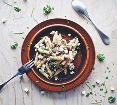 Tonnikala-mozzarellapasta - tuna and mozzarella pasta