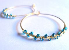 Nobuki earrings 2011 - brass wire and light blue beads
