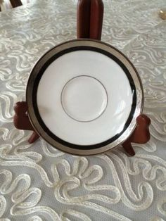 Waterford-Fine-China-Saucer-Colleen-White-With-Silver-Rim-5-5-Made-in-Japan-NW