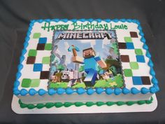 Minecraft Birthday Sheet Cake @sugarshackscia