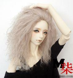 "Blue Blood Doll - 1/3 bjd 8-9"" inches beige color mohair long wig , $25.00 (http://www.blueblooddoll.com/bjd-wigs/1-3-bjd-8-9-inches-beige-color-mohair-long-wig/)"