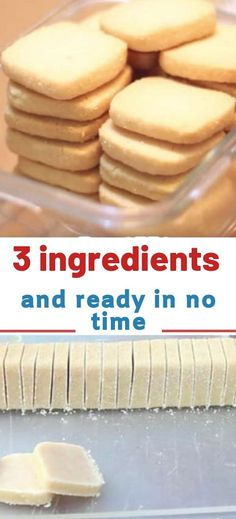 Milk, butter and sugar — these ingredients sound rather simple. Nevertheless, it's these three ingredients that are making up a simple cookie recipe that has been discovered by nearly 7 million people… and counting. Not only Recipes with few ingredients Sugar Cookie Recipe Easy, Easy Sugar Cookies, Easy Cookie Recipes, Easy Desserts, Baking Recipes, Easy Simple Cookies, Sugar Cookie Recipe No Butter, Easy Shortbread Cookie Recipe, Butter Shortbread Cookies