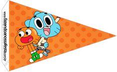 Bandeirinha Sanduiche 3 o Incrível Mundo de Gumball
