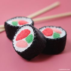 Learn how to sew up some felt sushi to create play food for your little ones, or turn it into a DIY cat toy by adding catnip