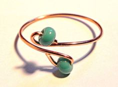 Turquoise Adjustable Toe Ring, Boho Chic, Spring Summer Fashion Knuckle or Toe Ring By Raadhe Handmade Jewelry