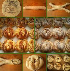 Zázraky z kysnutého cesta: Triky, ktoré by mal vedieť každý! Hungarian Recipes, Turkish Recipes, Bread Recipes, Cooking Recipes, Bread Shaping, Bread Art, Braided Bread, Our Daily Bread, Bread And Pastries