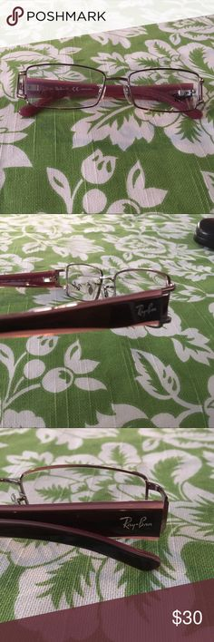 RayBan Optical Frame pink and dark brown arms RayBan Optical Frame pink silver dark brown RB 6207 Eyeglasses rayban Accessories Glasses