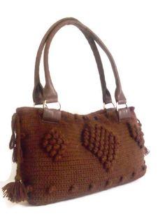 Crochet Brown Handbag by CrochetChi on Etsy
