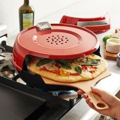 Pizzeria Pronto Stovetop Pizza Oven, available at #surlatable