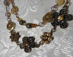 Golden Garden Double Strand Delight Necklace by BeadOriginalsbyJudi on Etsy