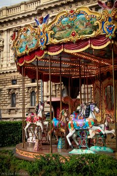 Carousel in St Petersburg, Russia, photography by Polina Paraka