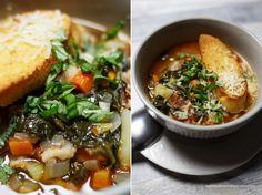 Włoska zupa chlebowa z pomidorami i fasolą- ribolitta. Sycąca, zdrowa i gęsta zupa na jesień i zimę.