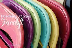 spray painting folding chairs